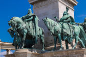 Heroes square in Budapest, — Stock Photo