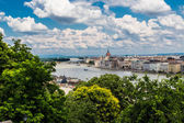 The building of the Parliament in Budapest, Hungary — Стоковое фото