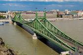Liberty Bridge in Budapest. — Stock Photo
