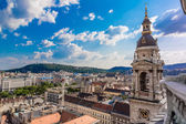 Aerial view at Budapest from the top of St Stephen Basilica — Stock Photo