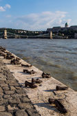 Shoes on the Danube — Stock Photo
