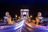 City of Budapest in Hungary night urban scenery — Stock Photo
