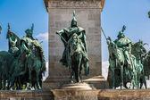 Budapest heroes square — Stok fotoğraf