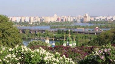 Panorama of the city Kiev, Ukraine — Stock Video