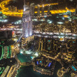 Постер, плакат: Address Hotel at night in the downtown Dubai area