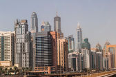 Dubai downtown. East, United Arab Emirates architecture — Stock Photo
