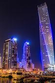 Vista da cidade do Dubai marina, Emirados Árabes Unidos — Fotografia Stock