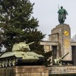 Russian tank of the WWII at the memorial — Stock Photo #48918515