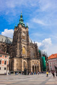 West facade of St. Vitus Cathedral in Prague — Stock Photo