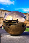 Sphere within sphere in Courtyard — Стоковое фото