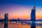 Burj Al Arab is a luxury 5 stars hotel — Stok fotoğraf