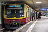 People at Potsdamer Platz subway station in Berlin — Stock Photo