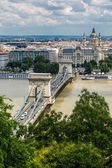 Magnificent Chain Bridge in Budapest — Stock Photo