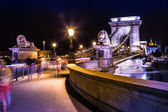 Budapest in Hungary night urban scenery — Stock Photo