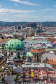 View of Vienna city from the roof — Stock Photo