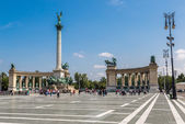 Heroes square in Budapest — Stock Photo