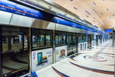 Dubai Metro Terminal in Dubai — Stock Photo