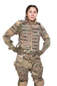 Beautiful army girl — Stock Photo