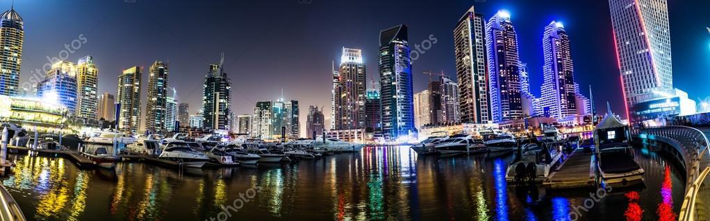 paysage de dubai marina mirats arabes unis photo ditoriale 48922787. Black Bedroom Furniture Sets. Home Design Ideas