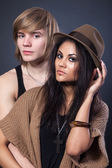 Stylish young couple — Stock Photo