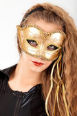 Young woman wearing mask — Stock Photo
