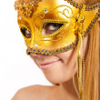 Photo of a young woman wearing mask — Stock Photo #6905604