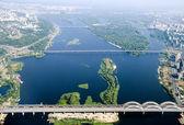Kyiv city - aerial view. — Stock Photo