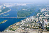 Kyiv city - aerial view. — Stockfoto