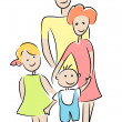 Stock Vector: Family.