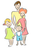Family. — Stock Vector