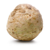 Celery root isolated on white background. — Stok fotoğraf