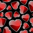Seamlessly hearts pattern - background for continuous replicate. — Stockfoto