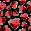 Seamlessly hearts pattern - background for continuous replicate. — Stock Photo