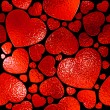 Seamlessly red hearts pattern. — Stock Photo