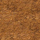 Bezszwowe pomarszczony brązowego papieru zbliżenie tekstura tło. — Zdjęcie stockowe