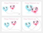 счастливый валентин день карты набор. — Cтоковый вектор