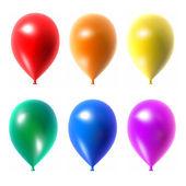 Balões coloridos definidas isolado no fundo branco. — Foto Stock