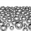 Metal balls isolated on white background. — Stock Photo