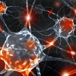 3d rendering illustration of neurons. - Stock Photo