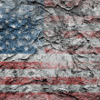 Stock Photo: Grungy american flag background.