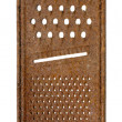 Old rusty grater isolated on white background. — Stock Photo