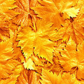 Seamlessly golden leafs background. — Stock Photo