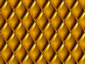 Seamless gold diamond-shaped upholstery background pattern. — Stock Photo