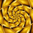 Concentric golden pattern. — Stock Photo