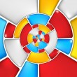 Concentric colorful mosaic pattern. — Stock Photo