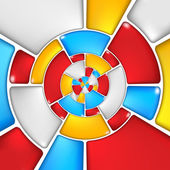 Concentric colorful mosaic pattern. — Stockfoto
