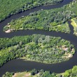 Zigzag river. Aerial view. — Stock Photo #42506793