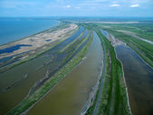 Sedovo spit. Sea of Azov. Aerial view. — Stock Photo