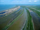 Sedovo spit. Sea of Azov. Aerial view. — Stock Photo