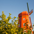Orange  windmill - Stock Photo